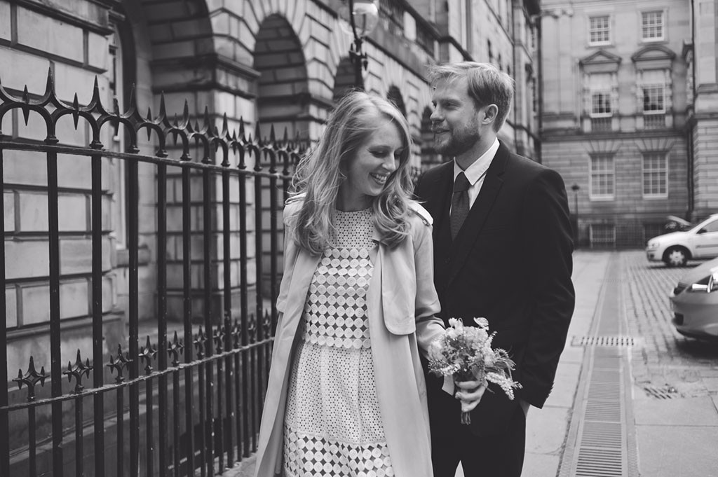 Intimate wedding at Lothian Chambers, Edinburgh