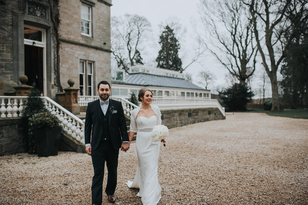 A Black Tie Carlowrie Castle Wedding Featured on English