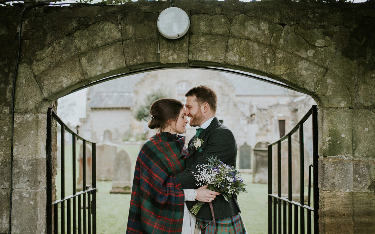 Wedding at the Cramond Kirk & Botanic Gardens, Edinburgh