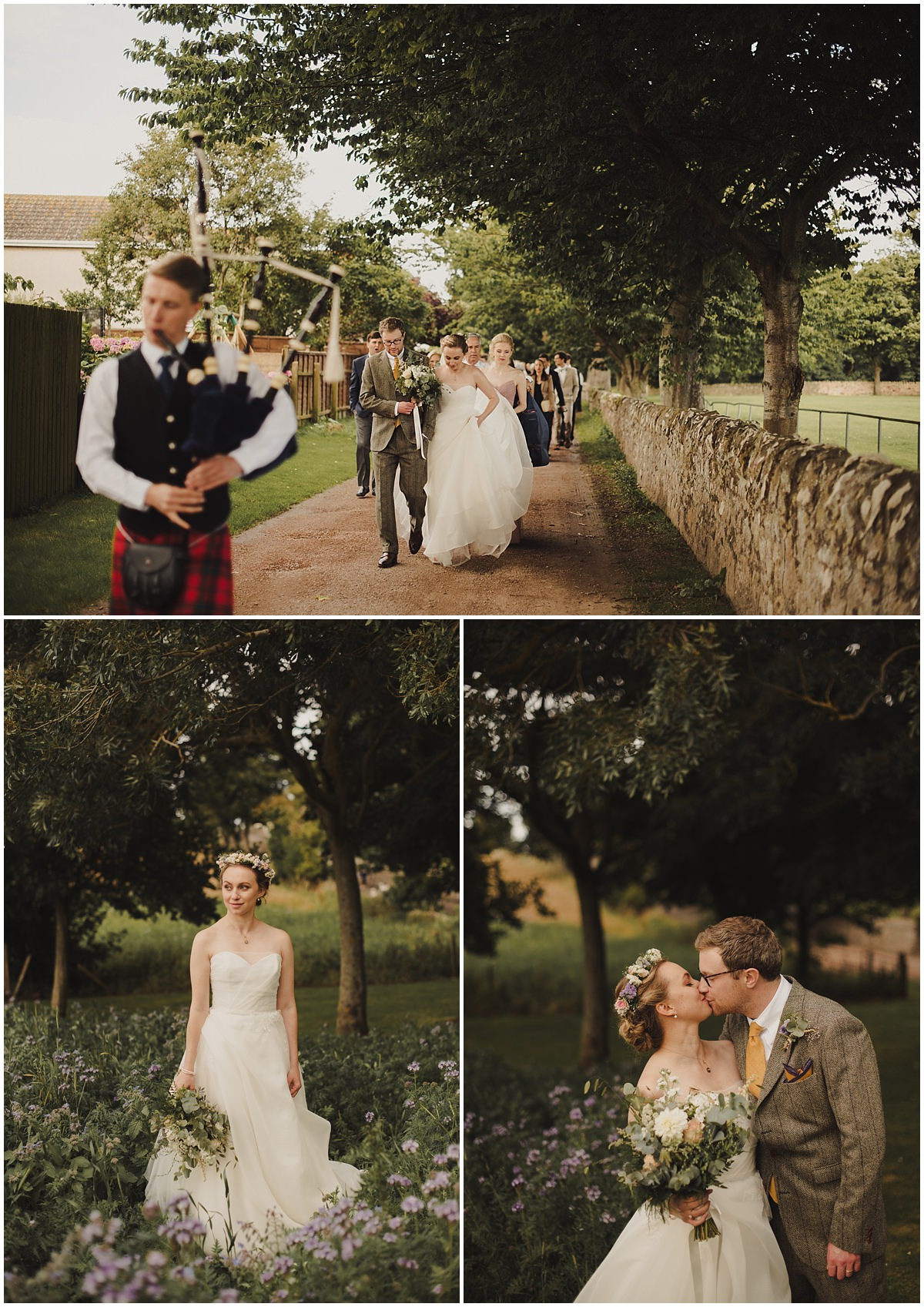 boho bride wedding crail field