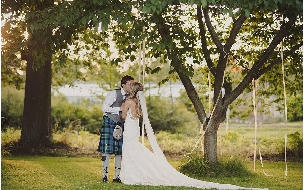 Summer wedding at Colstoun House