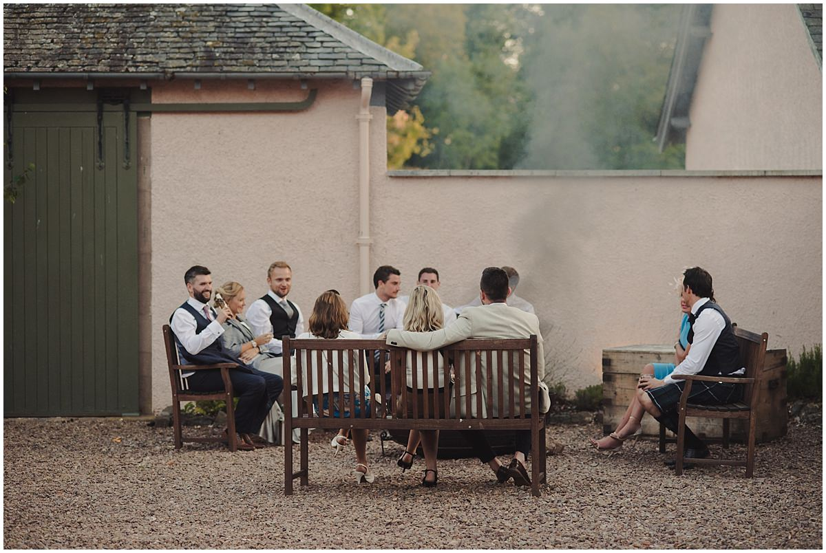 wedding venues with campfire, firepit