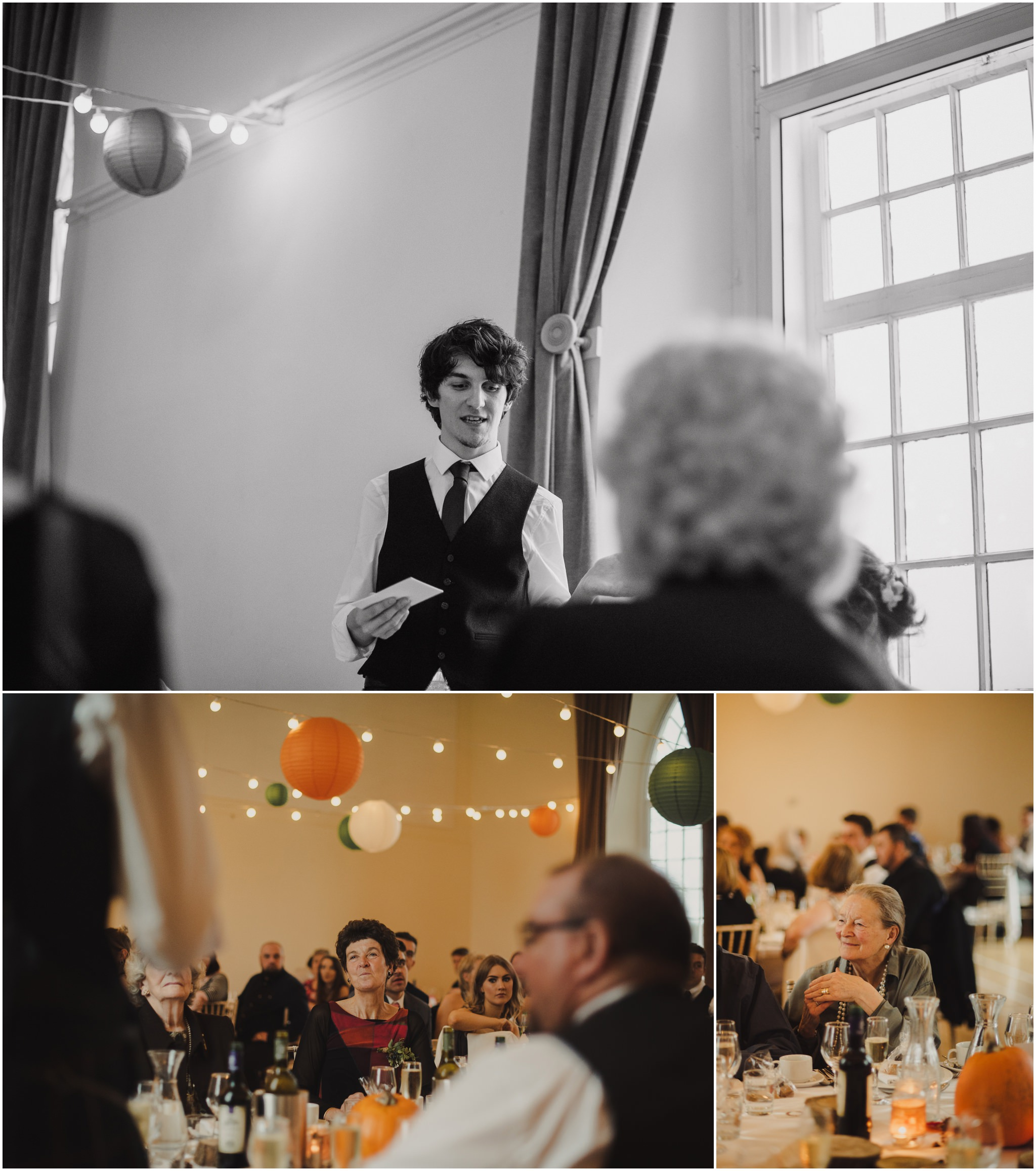 Autumn wedding killearn village hall wedding