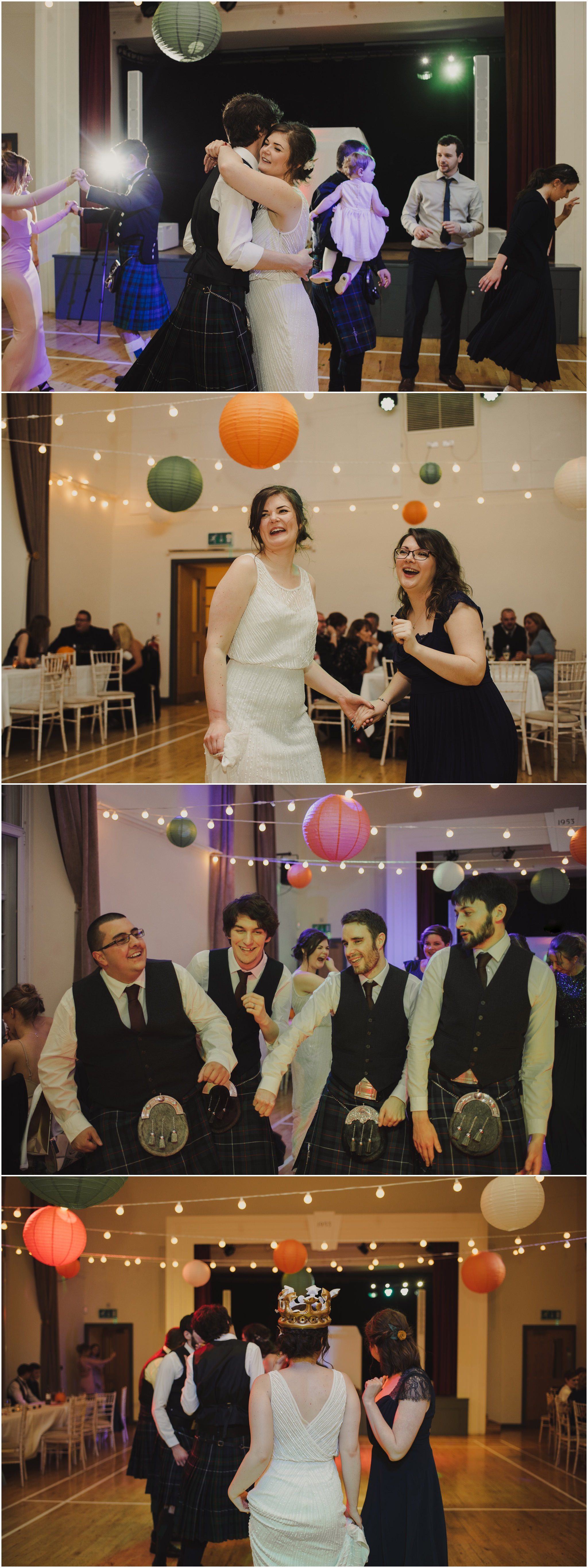 halloween wedding Killearn Village Hall