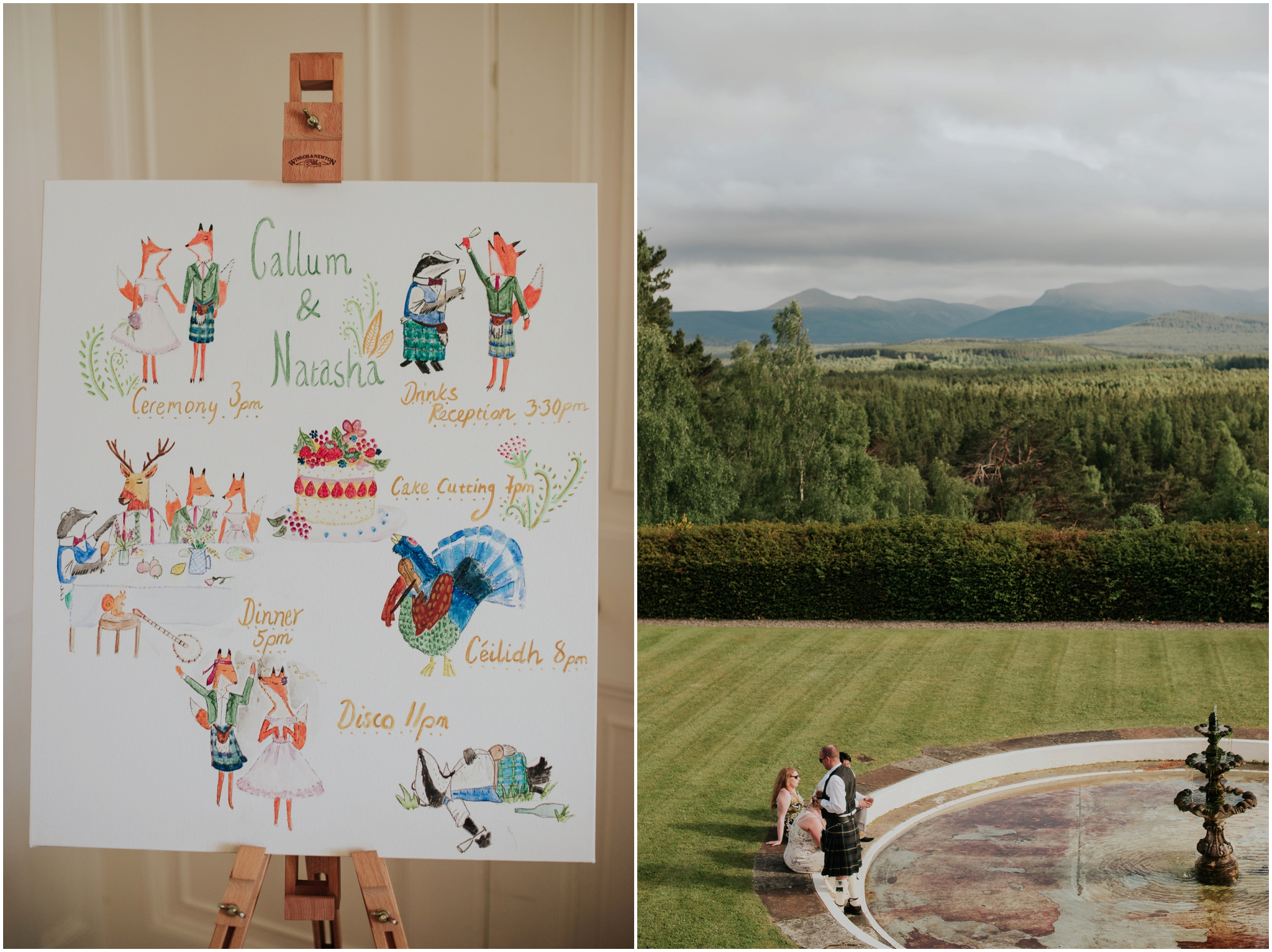 relaxed wedding at Aultmore Estate