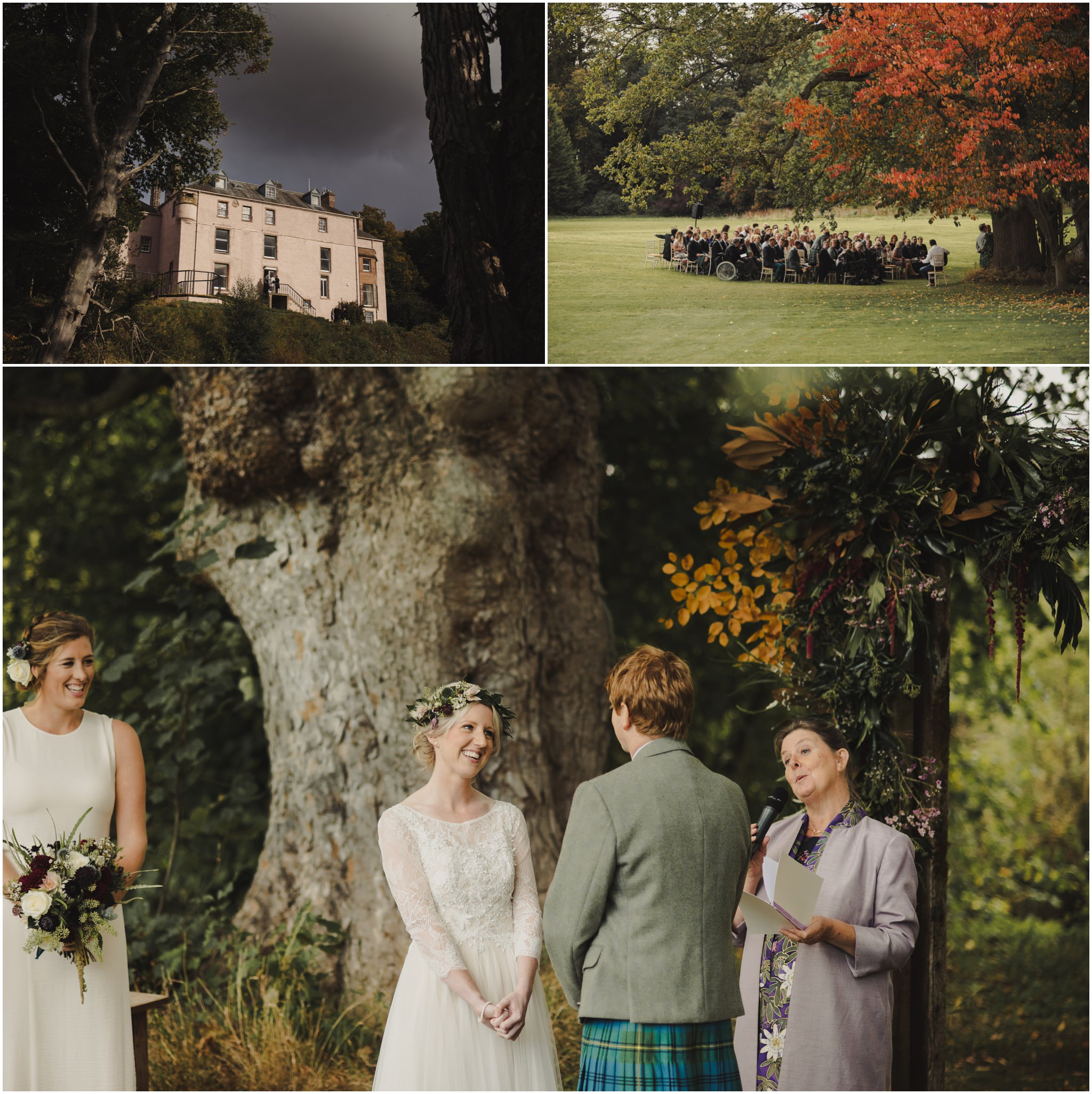rustic wedding at colstoun house barn