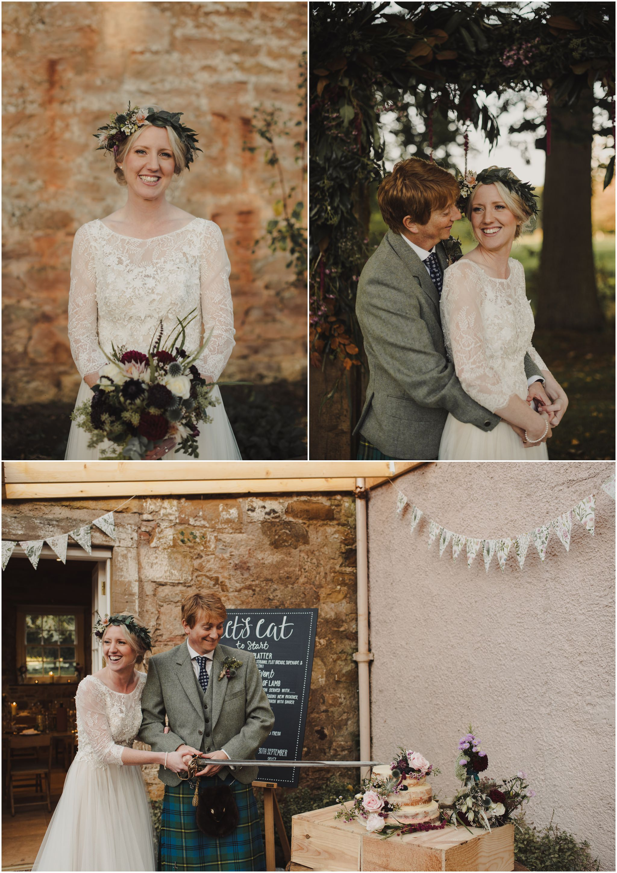 relaxed wedding at colstoun house