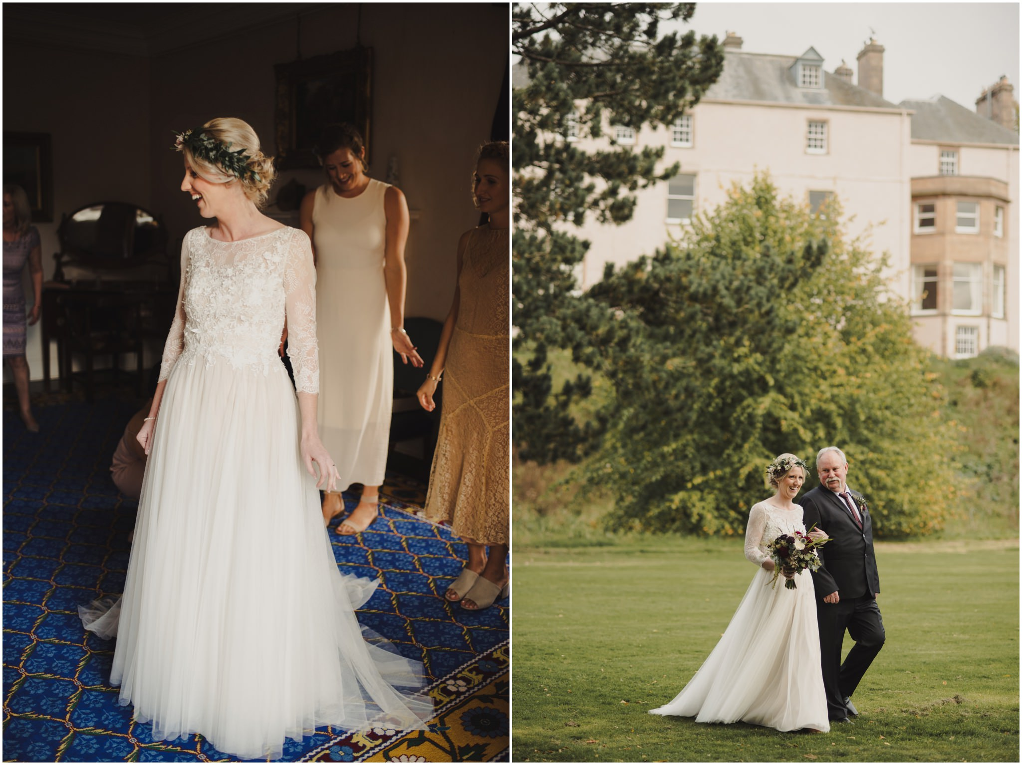 Autumn wedding at Colstoun House