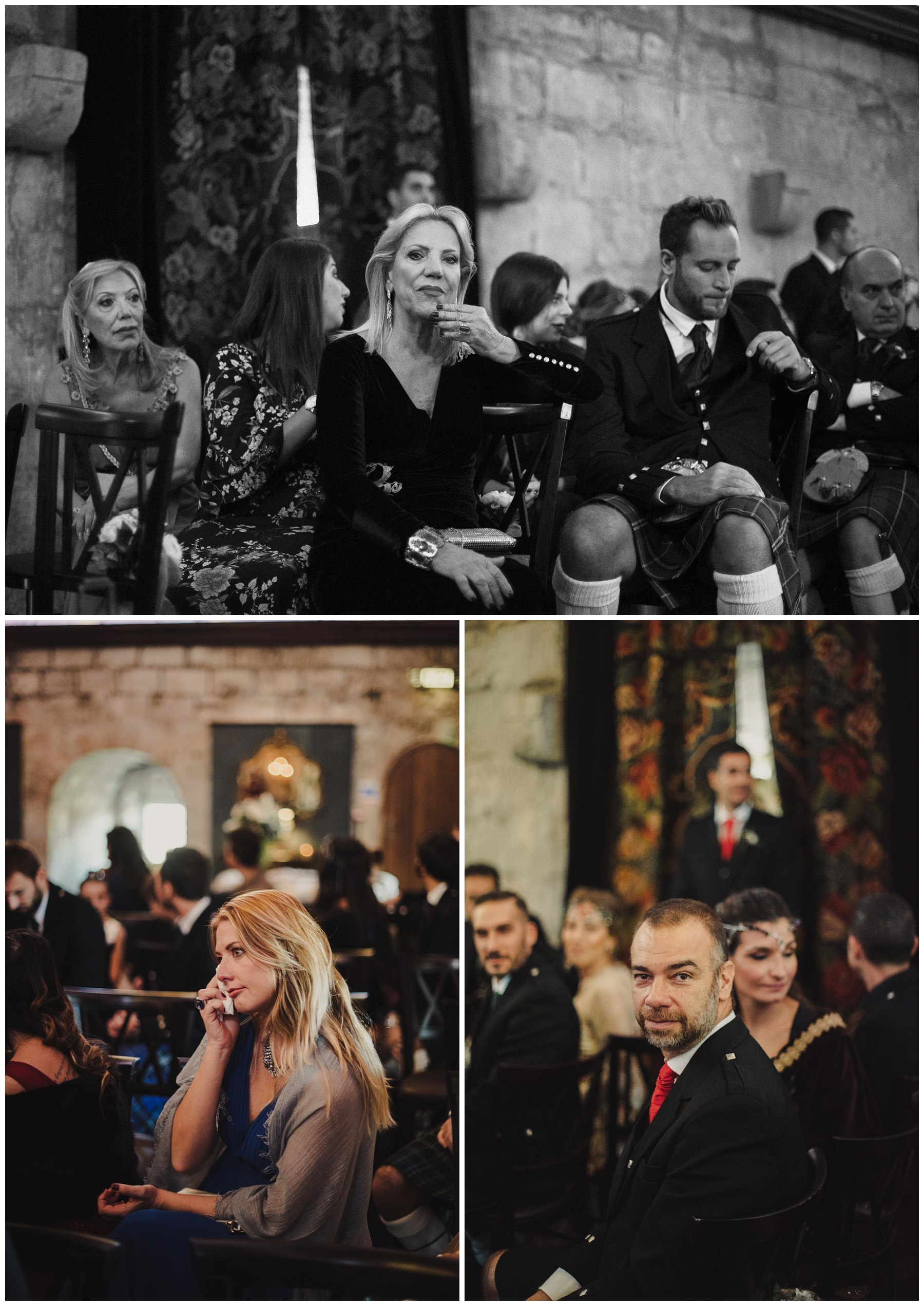 guests crying at the ceremony