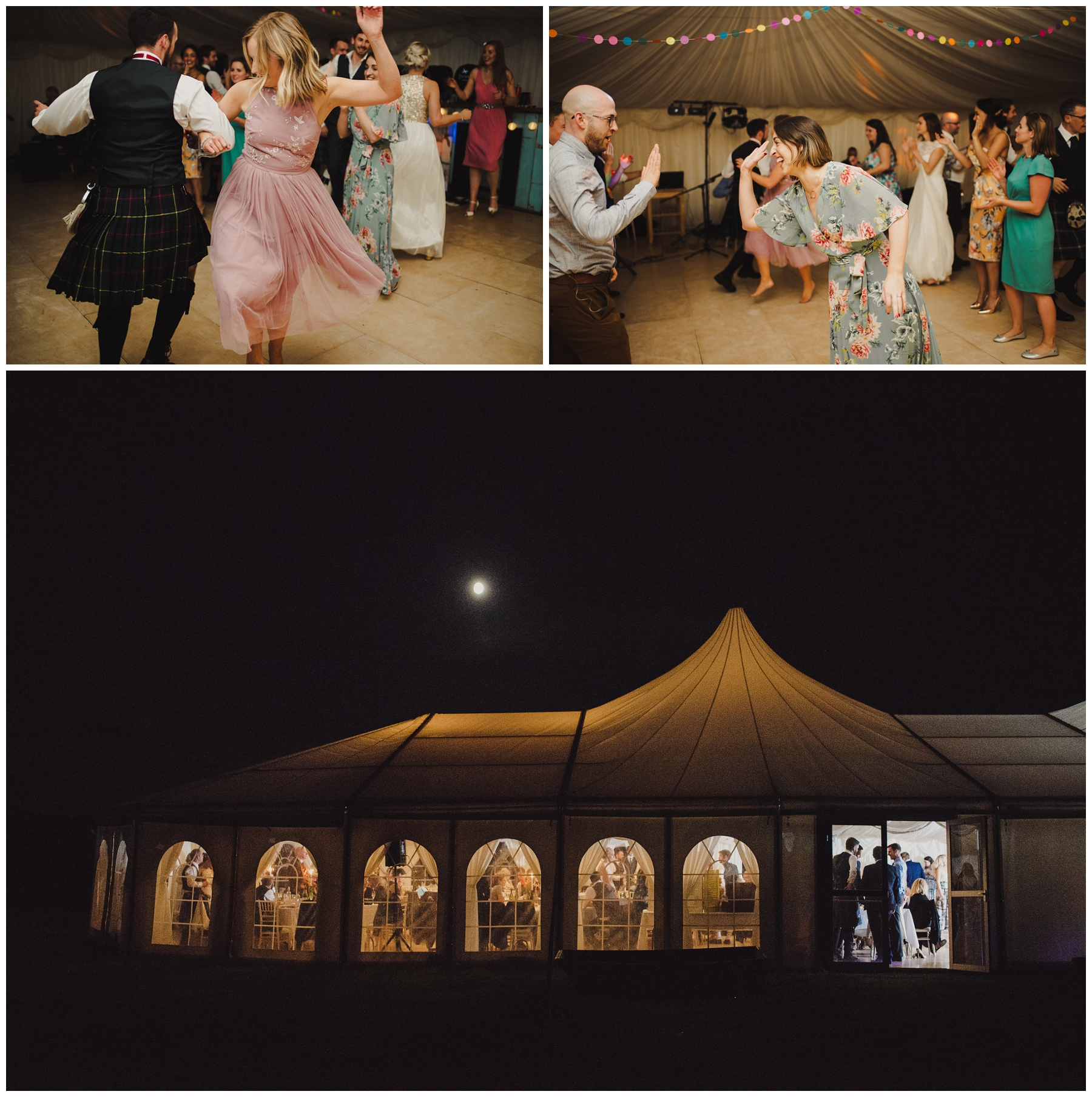 wedding ceilidh in the marquee