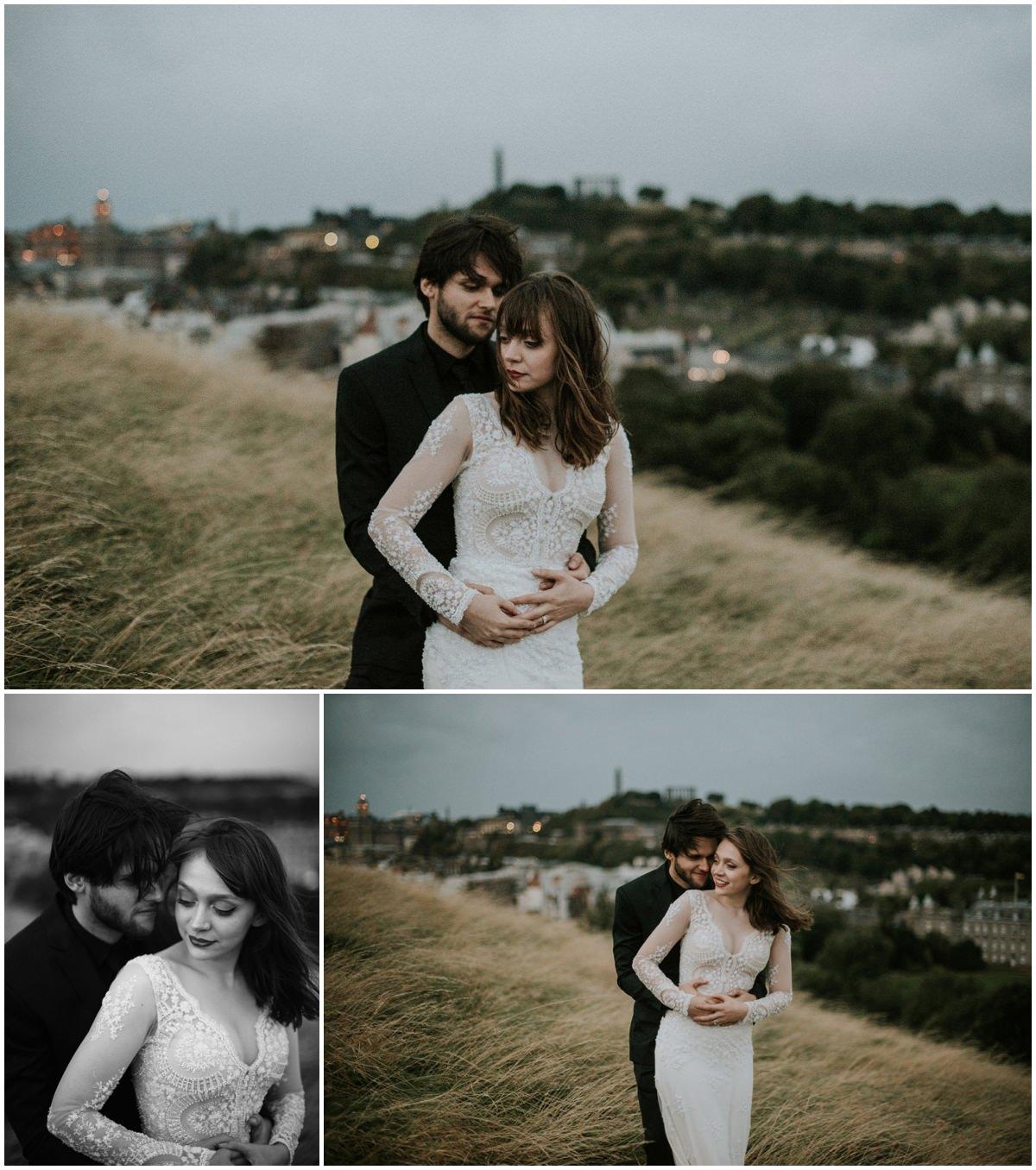 Unique Wedding Dresses Scotland: Post-wedding Photography Session In Edinburgh, Scotland